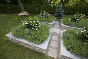 Gentleman's garden created and designed by Groupe Paramount